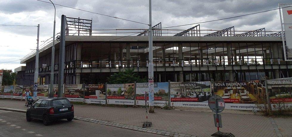 Rozestavěná budova Nová Palmovka
