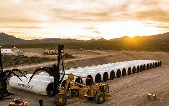 Testovací lokace systému Hyperloop v nevadské poušti