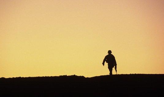 Americký voják na hlídce, ilustrační foto