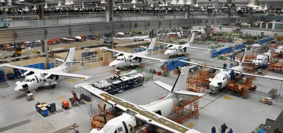 Výroba letadel v kunovické továrně Aircraftu Industries