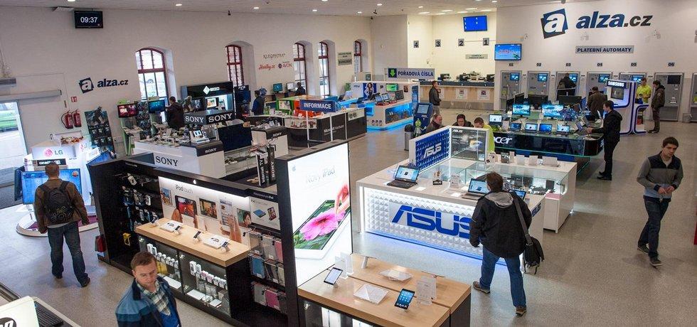 Showroom internetového obchodu Alza v Holešovicích