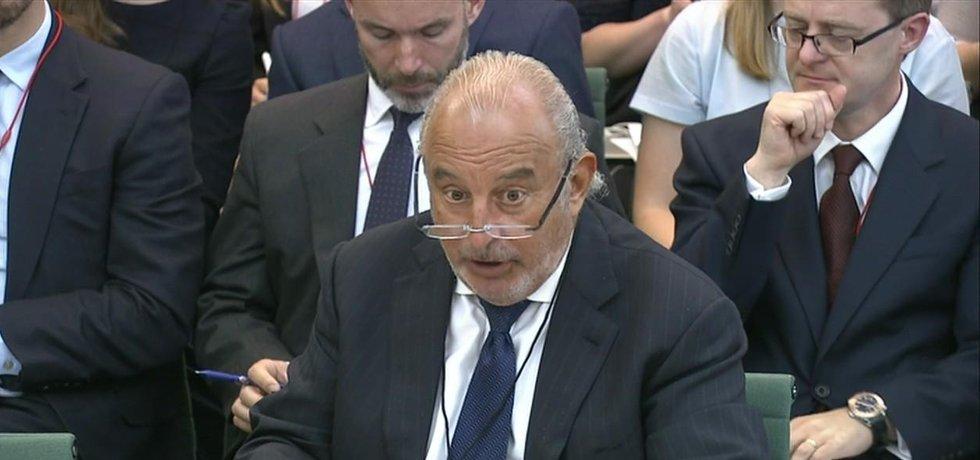 """Miliardář a bývalý vlastník British Home Stores """"rytíř"""" Philip Green"""
