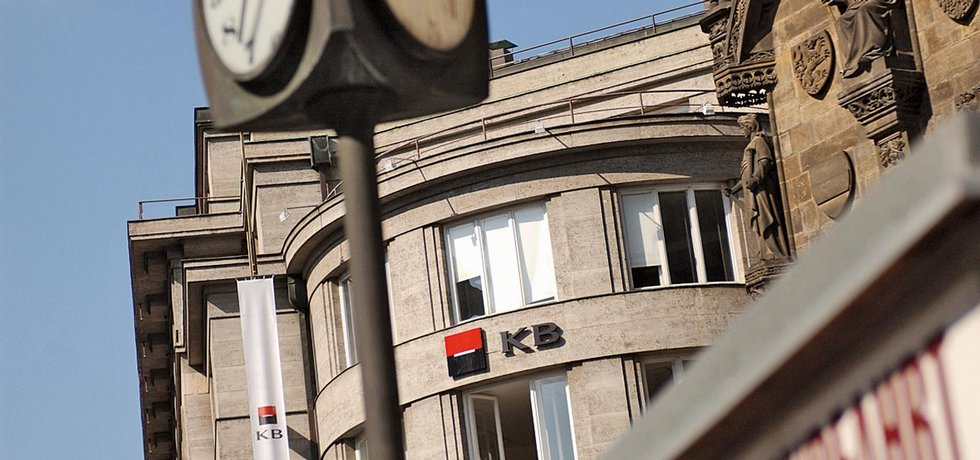 Centrála Komerční banky v Praze v ulici Na Příkopě