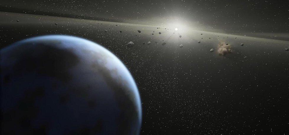 Pás asteroidů - ilustrační foto (Zdroj: NASA via Wikimedia Commons)