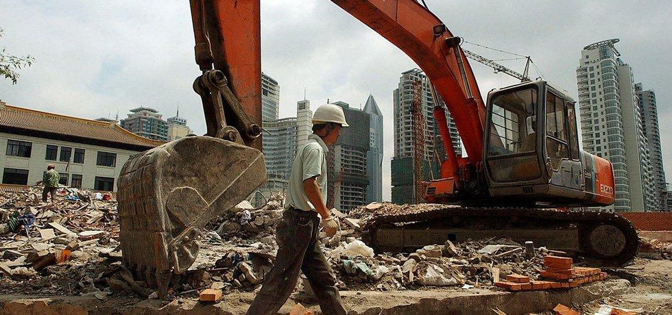 Stavební práce v Číně