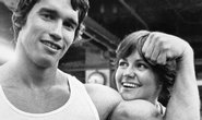  Arnold Schwarzenegger s herekou Sally Fieldovou v dob budovn sv kulturistick kariry