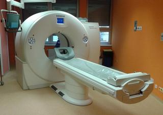 Dvouzdrojové multidetektorové CT, které je součástí vybavení  Kliniky zobrazovacích metod FN Plzeň-Lochotín