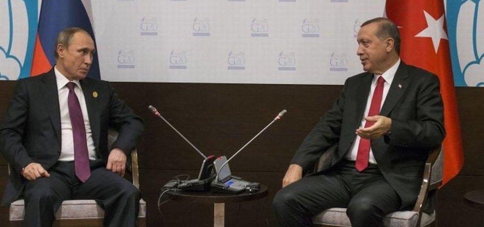 Vladimir Putin a Recep Tayiip Erdogan (Zdroj: čtk)