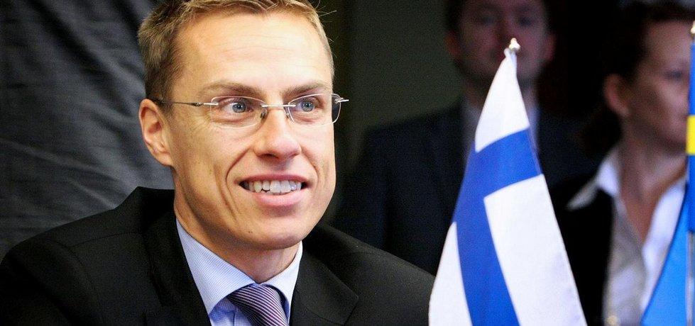 Finský ministr financí Alexander Stubb