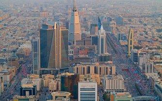 Pohled na Rijád, hlavní město Saudské Arábie