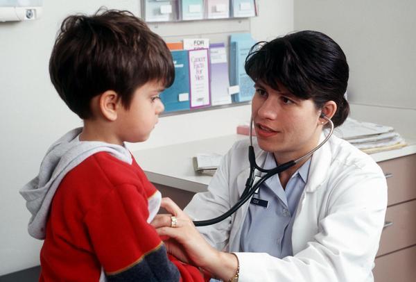 dítě, lékařka, praktik, ordinace, pediatr