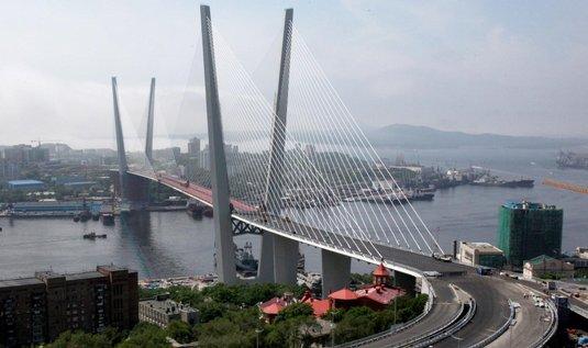 Most na Ruský ostrov ve Vladivostoku