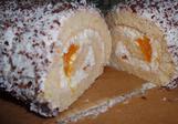 Kokosovo-tvarohová roláda