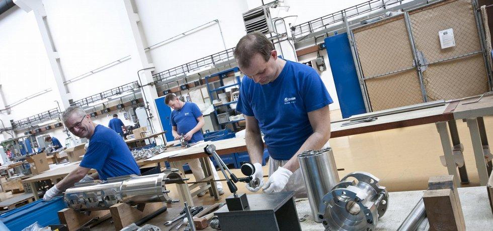 Výroba pohonů pro jaderné reaktory ve Škoda JS.