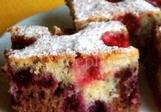 Dvojbarevný ovocný koláč