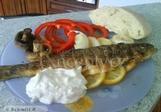 Apulijský pstruh na grilu