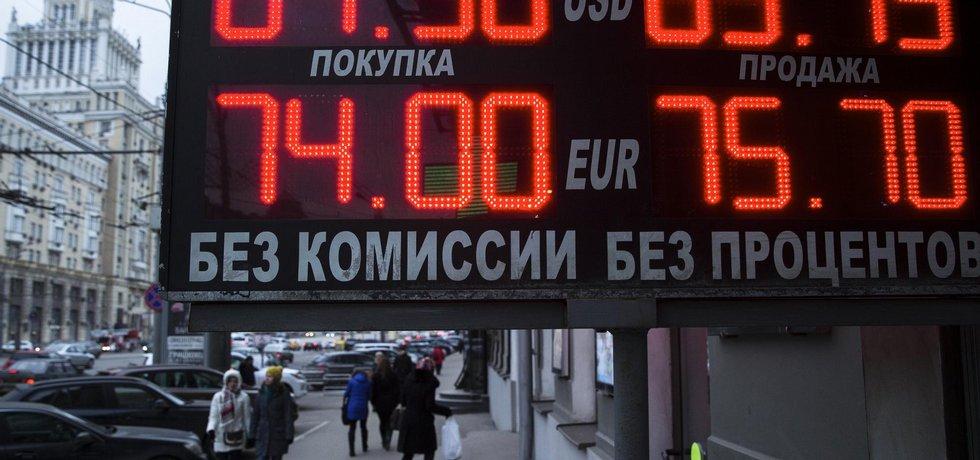 Ruský rubl - ilustrační foto