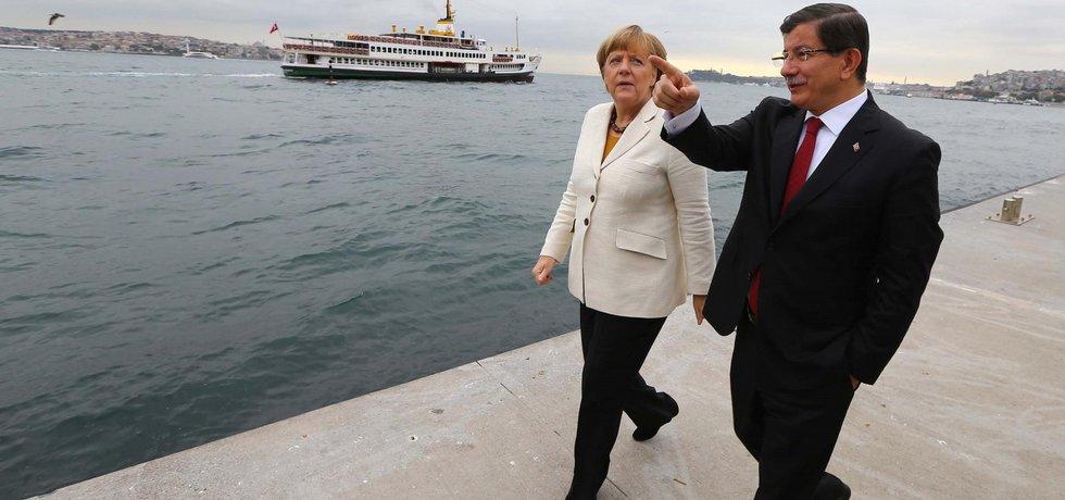 Německá kancléřka a turecký premiér