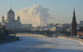 Zimní Moskva