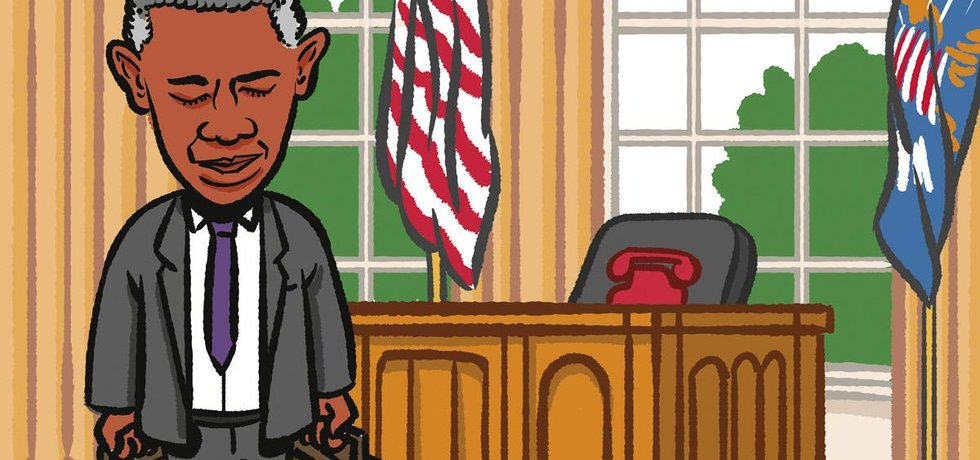 Obama karikatura