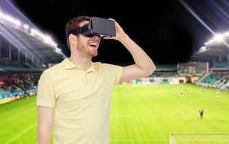 Sportovní přenos ve virtuální realitě - ilustrační foto