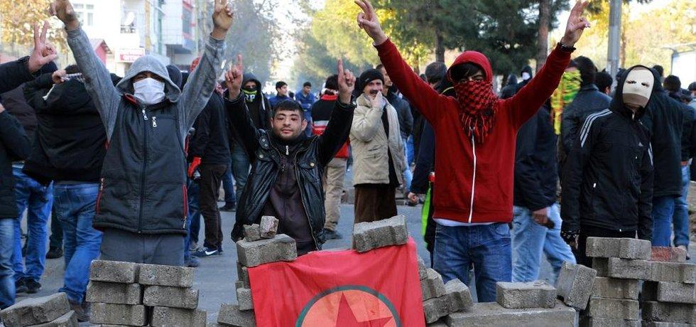 Kurdské protivládní protesty v Turecku - ilustrační foto