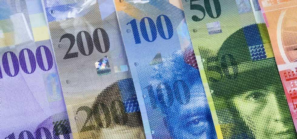 Švýcarský frank, ilustrační foto