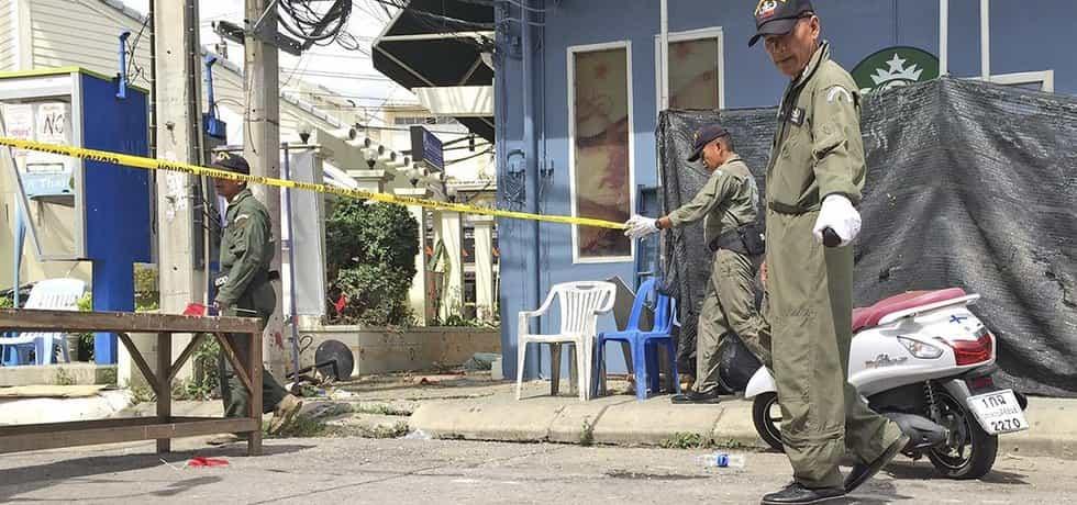 Vyšetřování v thajském letovisku Čua Čin (Zdroj: čtk)