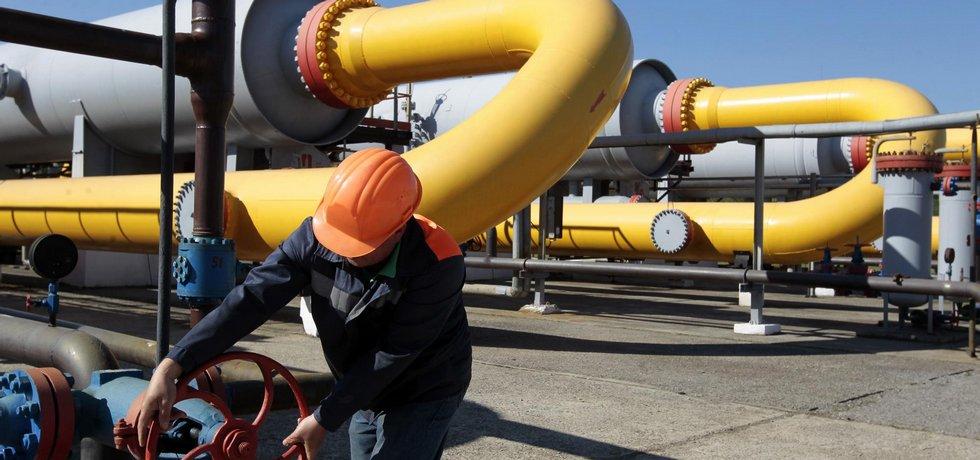 Uzávěr plynovodu (Zdroj: ČTK