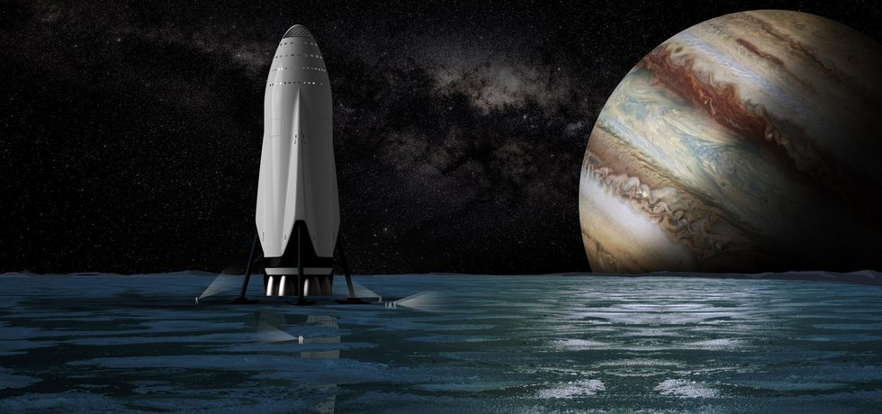 Soukromá společnost SpaceX vyvíjí obří raketu a vesmírnou loď k přepravě velkého množství lidí a nákladu na Mars s konečným cílem rudou planetu kolonizovat.
