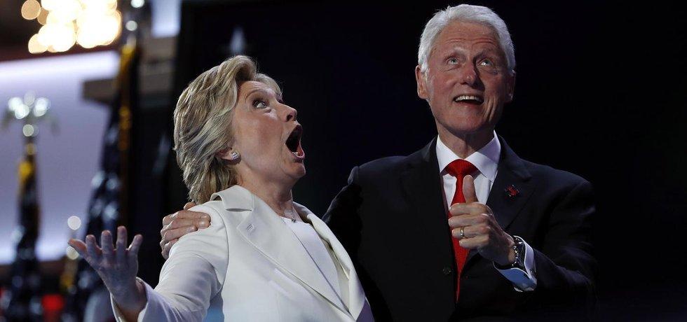 Hillary Clintonová s manželem Billem
