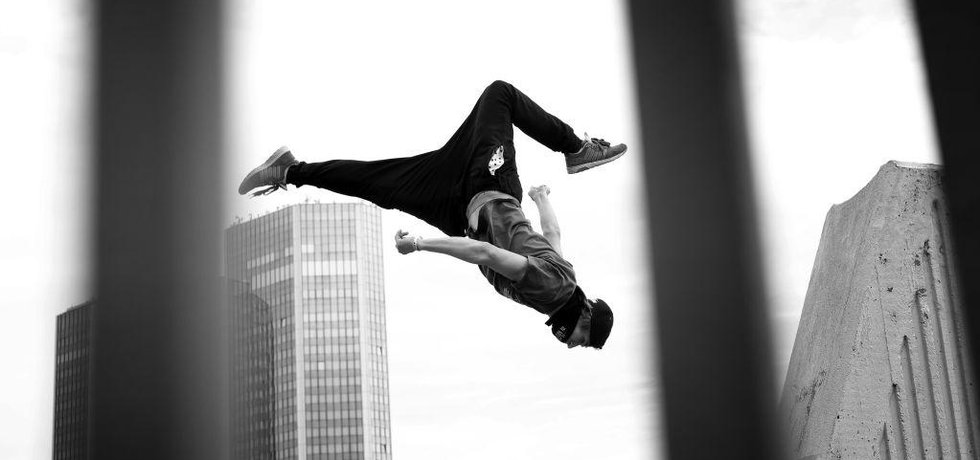 In motion, parkourový tým. (Foto Euro, Hynek Glos)