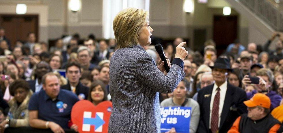 Hillary Clintonová v chicagském sídle instalatérských odborů