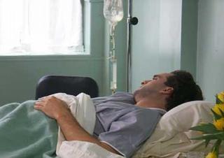 pacient, nemocnice, pokoj, kapačka, infuze