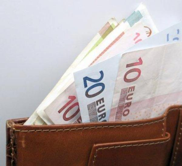 peníze, euro, peněženka