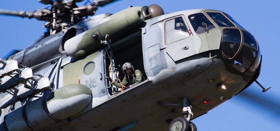 Vrtulník Mi 171 české armády v Náměšti nad Oslavou (zdroj: Flickr)