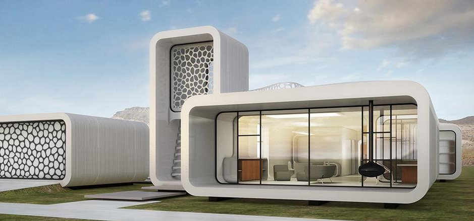 Kancelář vyrobená za pomoci 3D tiskárny. Zdroj: Dubai Museum of the Future