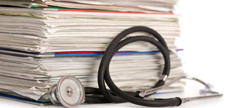 *stetoskop, dokumenty, dokumentace