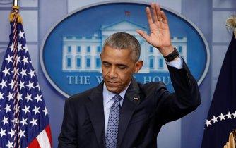 Barack Obama na své poslední tiskové konferenci jako americký prezident