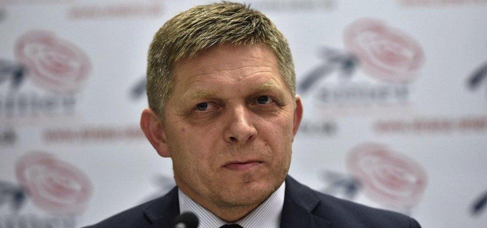 Slovenský premiér a šéf strany Směr-SD Robert Fico