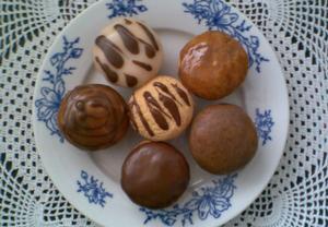 ,,Polévané,, piškotové muffinky