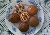 Polévané piškotové muffinky