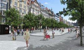 Spodní část Václavského náměstí, vizualizace