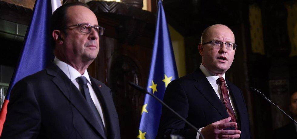François Hollande a Bohuslav Sobotka