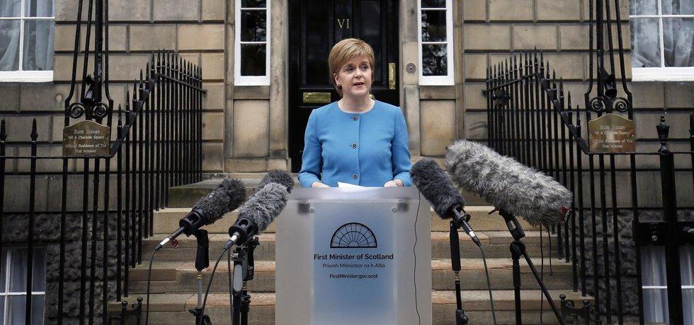 Skotská první ministryně (premiérka) Nicola Sturgeonová