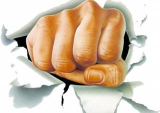 útok, pěst, násilí, argument