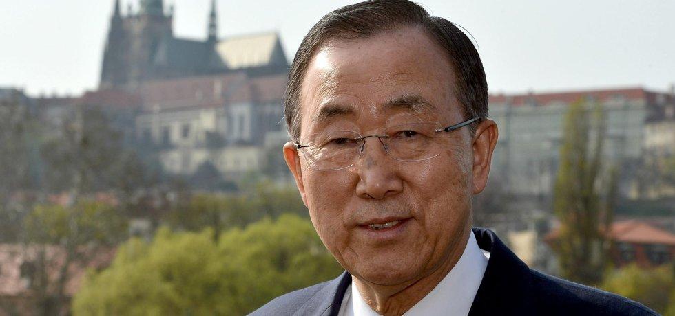 Generální tajemník OSN Pan Ki-mun na návštěvě v Praze