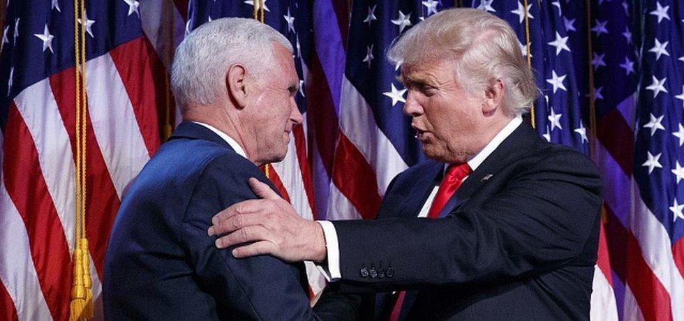 Donald Trump a budoucí viceprezident Mike Pence