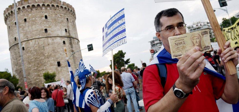 Protesty proti věřitelům Řecka