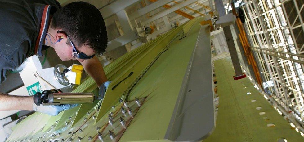Konstřukce křídel pro letouny Airbus A380 v britské továrně francouzské společnosti poblíž Chesteru.